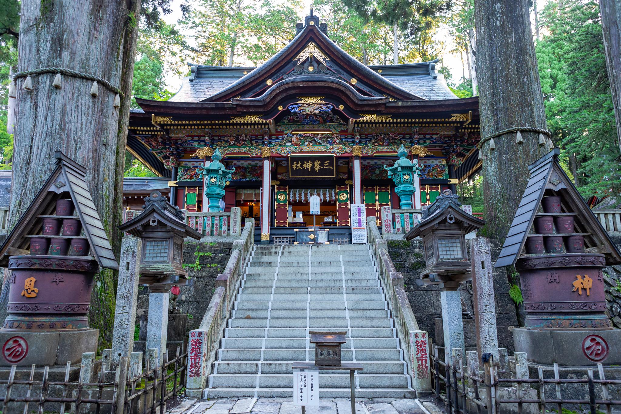三峰神社と約3Kmのイチョウ並木の紅葉を巡る旅