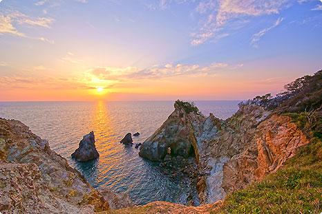 美しい夕日日本一:西伊豆堂ヶ島でワンランク上の宿旅!!